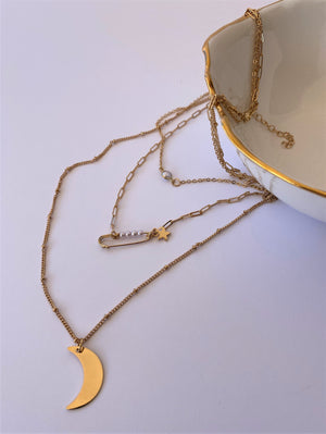 THE ORION TRIO STRAND PENDANT NECKLACE