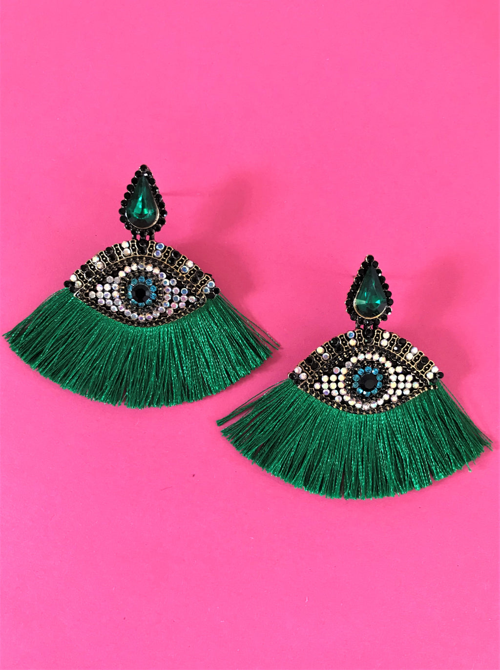 THE ATHENA EARRINGS - EMERALD