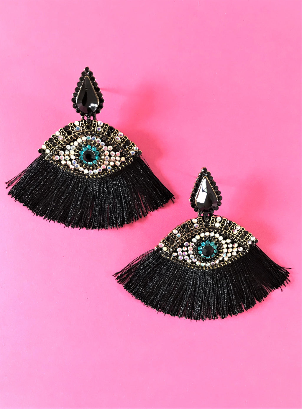 THE ATHENA EARRINGS - BLACK