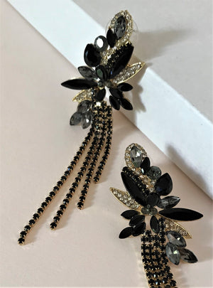 THE PARADISO EARRINGS - BLACK