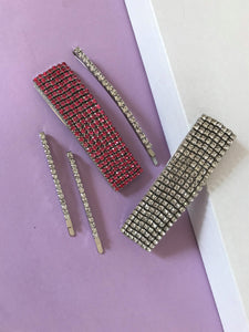 THE MYKONOS RHINESTONE CLIP SET