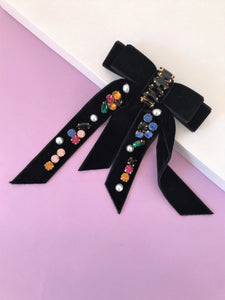 THE LUNA VELVET BOW CLIP