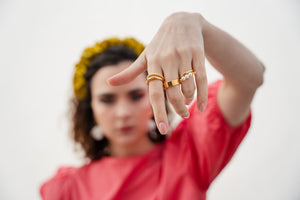 GOLD-PLATED RADIAL RING