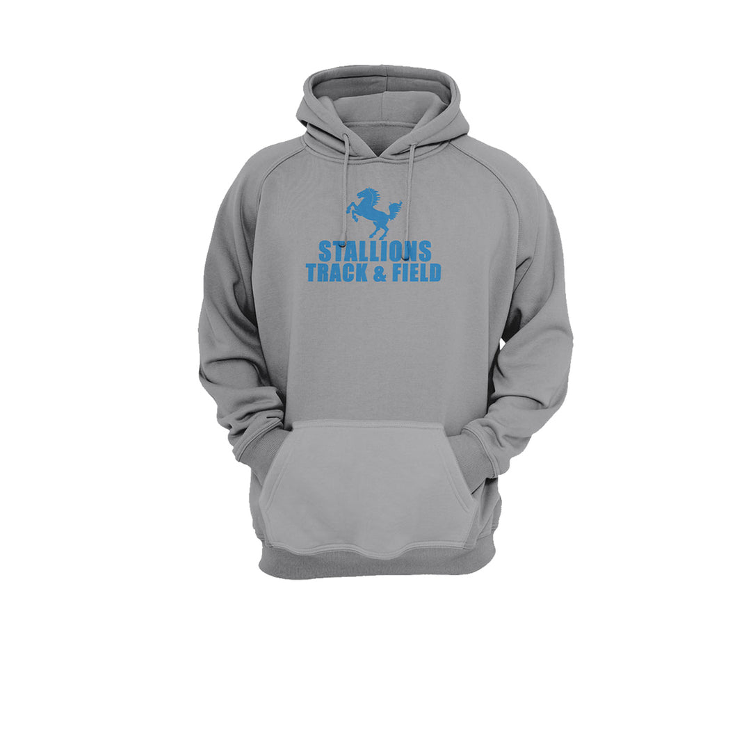 Stallion Track & Field Sports Gray Hoodie