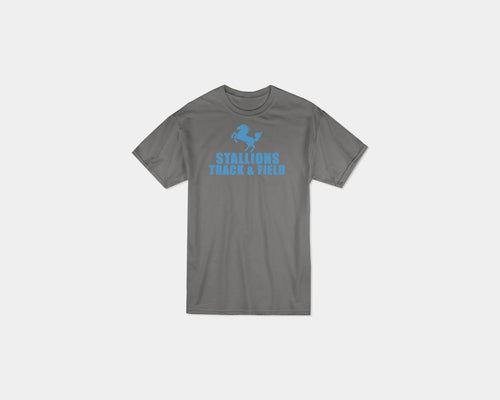 Stallion Track & Field Spors Gray T-shirt