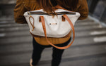 Modern Traveler Backpack | Cream + Cognac