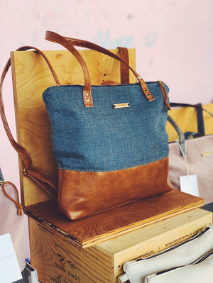 Modern Traveler Backpack | Denim