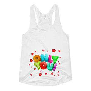 only you Women's racerback tank / happy halloween / halloween