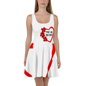 The Big Heart All-Over Print Skater Dress