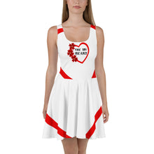 Load image into Gallery viewer, The big heart All-Over Print Skater Dress