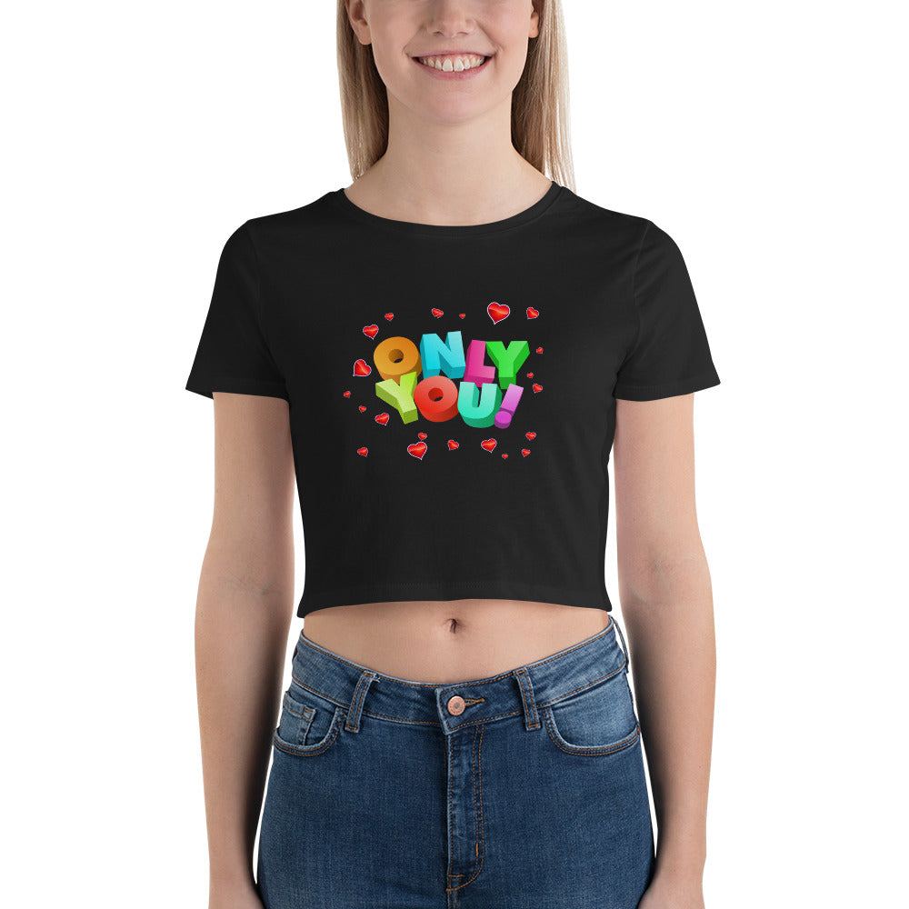 onlt you Women's Crop Tee / happy halloween / halloween