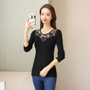 42 autumn dresses sweaters   slim lace embroidered shirt (price of not less than 55 F2039)