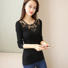 Load image into Gallery viewer, 42 autumn dresses sweaters   slim lace embroidered shirt (price of not less than 55 F2039)