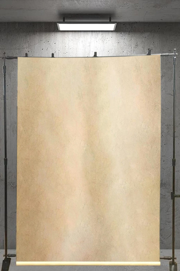 Clotstudio Abstract Yellow Ochre Mid Textured Hand Painted Canvas Backdrop #clot 107