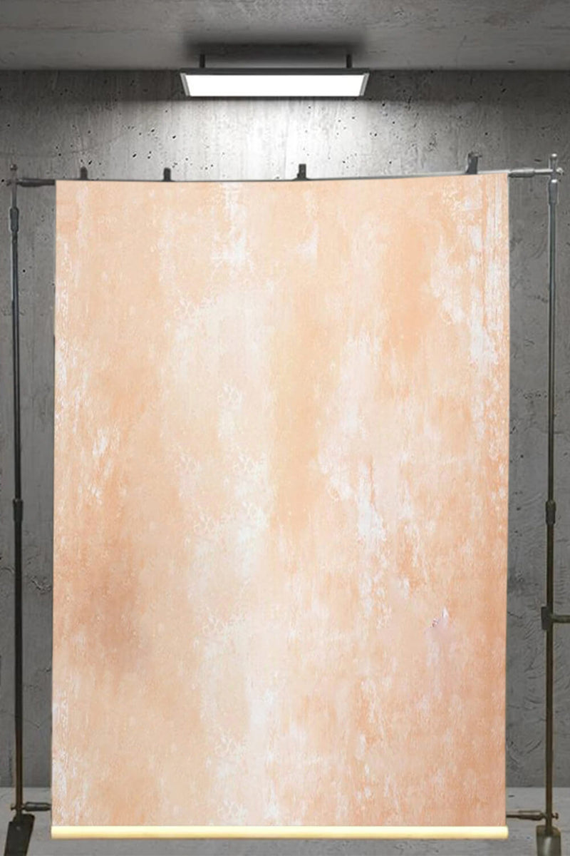 Clotstudio Abstract Orange Ochre Mid Textured Hand Painted Canvas Backdrop #clot 111