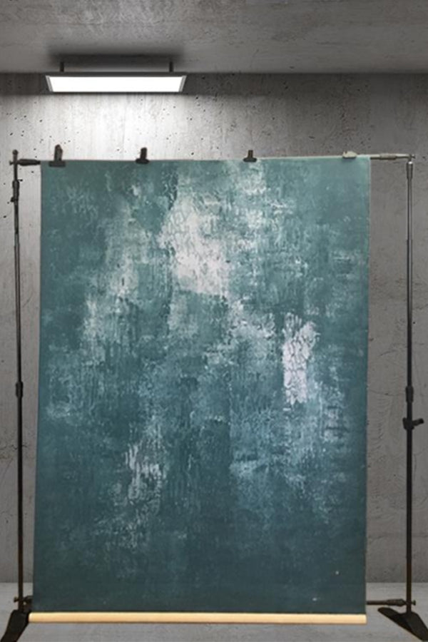 Clotstudio Abstract Teal Grey Spray Textured Hand Painted Canvas Backdrop #clot 2