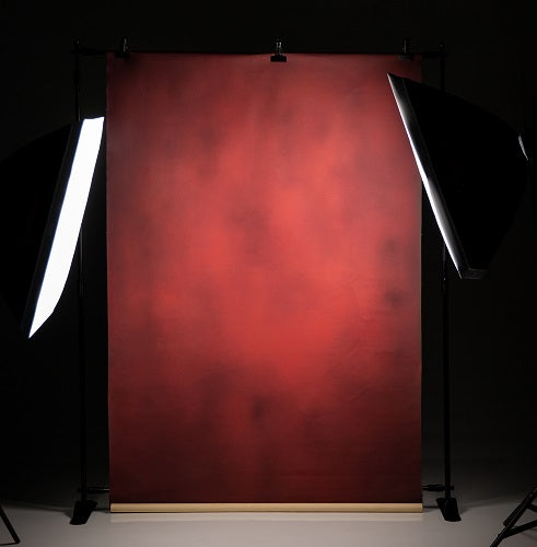 Clotstudio Abstract Dark Red Spray Textured Hand Painted Canvas Backdrop #clot 53-Low texture-CLOT STUDIO-custom hand painted canvas studio photo backdrops handmade photography backgrounds