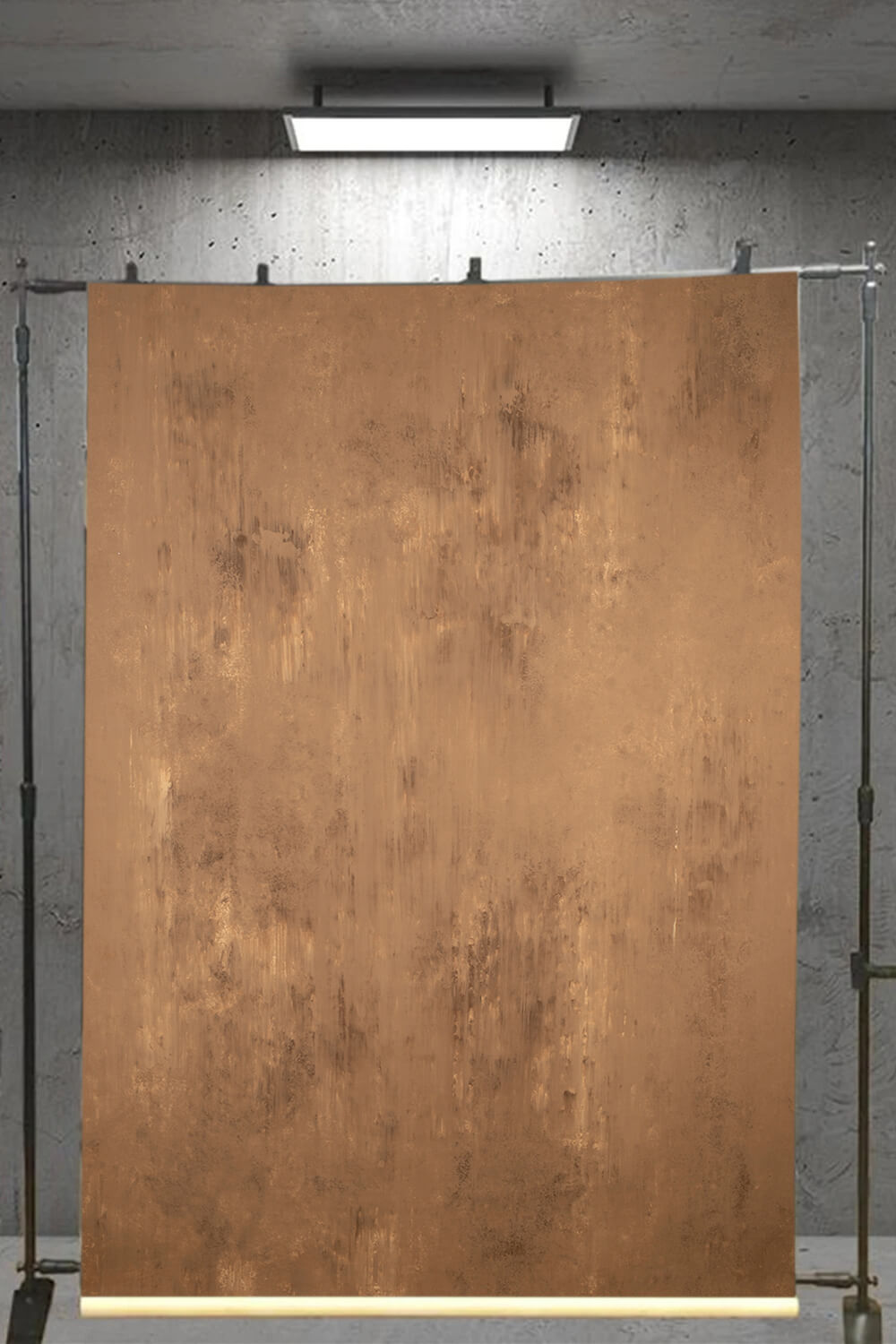 Clotstudio Abstract Red Ochre Textured Hand Painted Canvas Backdrop #clot 93
