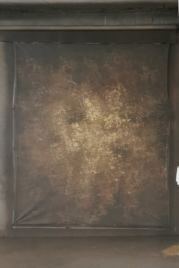 Clotstudio Abstract Dark Brown Yellow Textured Hand Painted Canvas Backdrop #clot 8-Strong Textured-CLOT STUDIO
