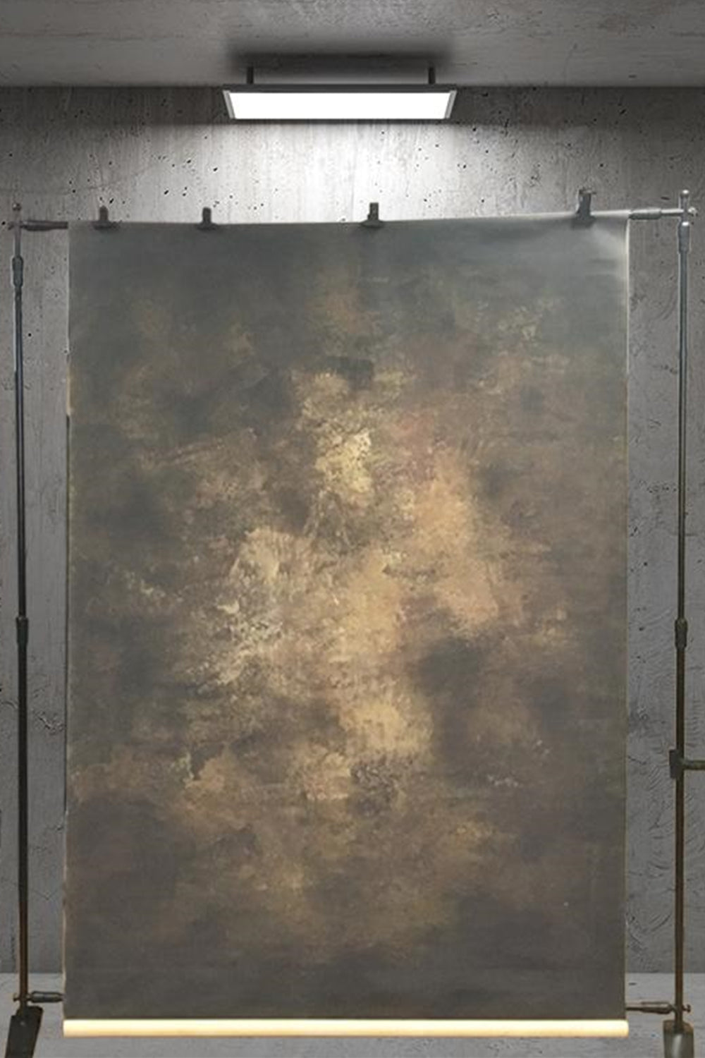 RTS-Clotstudio 5X7 ft & 7X9 ft Abstract Dark Brown Yellow Textured Hand Painted Canvas Backdrop #clot 8-Strong Textured-CLOT STUDIO-custom hand painted canvas studio photo backdrops handmade photography backgrounds