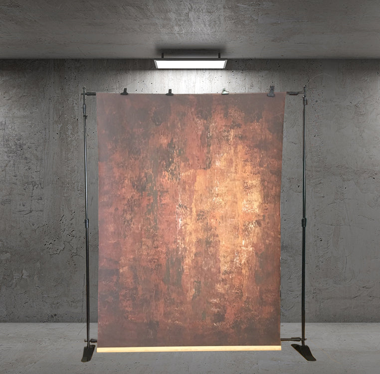 RTS-Clotstudio 7X9 ft Abstract Dark Red Little Orange Texture Hand Painted Canvas Backdrop #clot 11