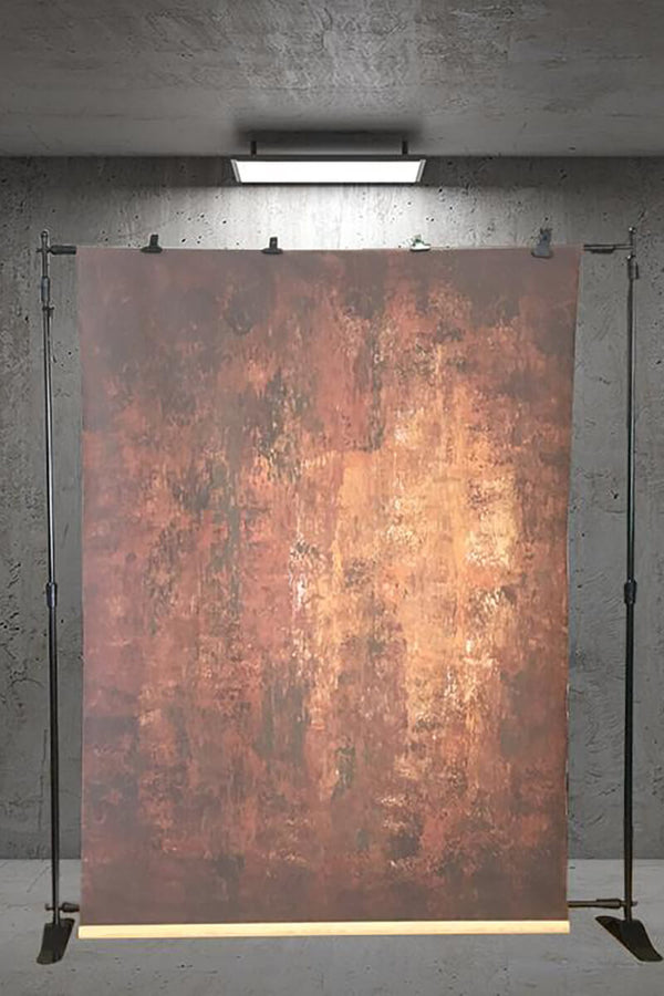 Clotstudio Abstract Dark Red Little Orange Texture Hand Painted Canvas Backdrop #clot 11-Strong Textured