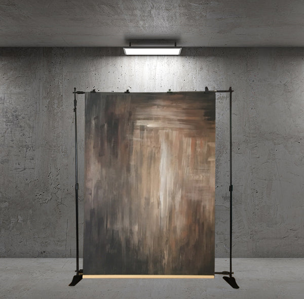 Clotstudio Abstract Brown Black Texture Hand Painted Canvas Backdrop #clot 16-Strong Textured-CLOT STUDIO-custom hand painted canvas studio photo backdrops handmade photography backgrounds