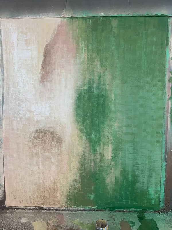 Clotstudio Abstract Beige Green Soft Texture Hand Painted Canvas Backdrop #clot 72