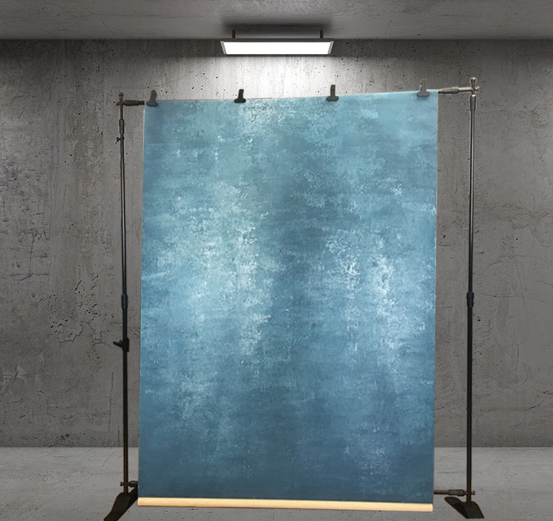 Abstract Dark Cyan Texture Hand Painted Canvas # clot29-clearance
