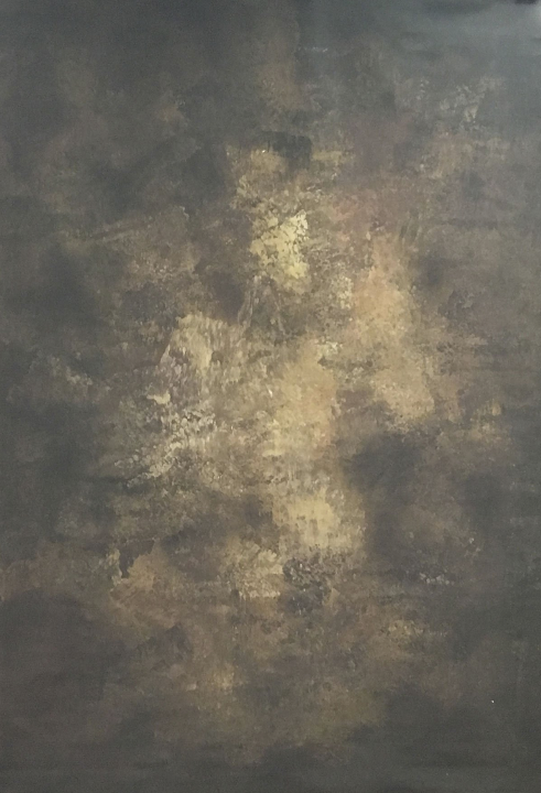 RTS-Clotstudio 5X7 ft & 7X9 ft Abstract Dark Brown Yellow Textured Hand Painted Canvas Backdrop #clot 8