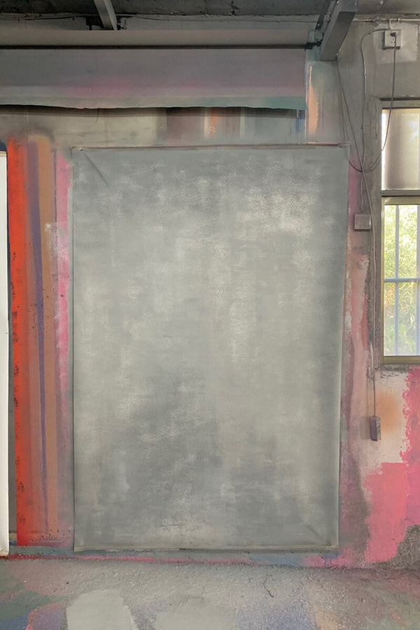 Clotstudio Abstract Grey Mid Textured Hand Painted Canvas Backdrop #clot 104