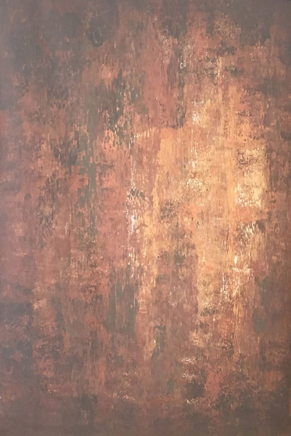 Abstract Dark Red Little Orange Texture Hand Painted Canvas # clot11