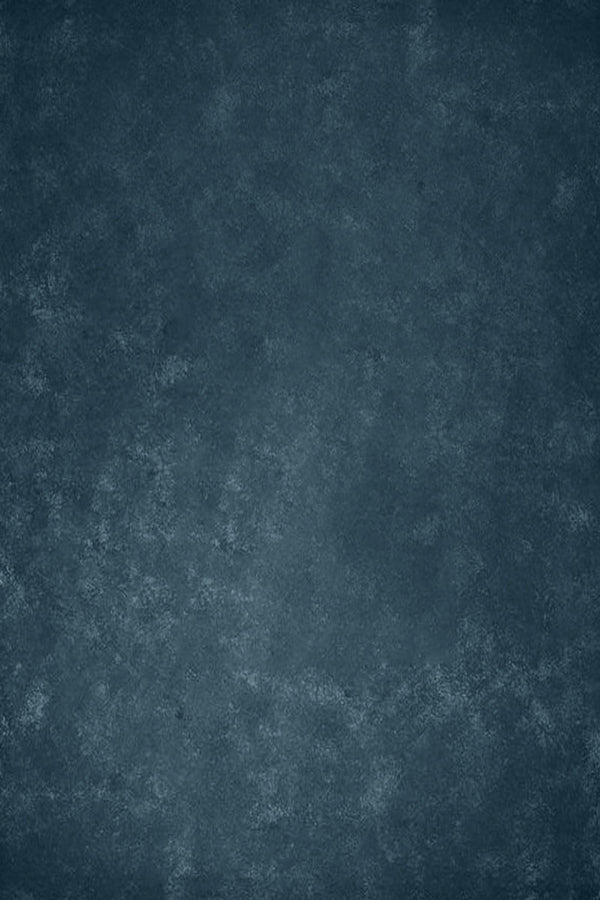 Clotstudio Abstract Blue Textured Hand Painted Canvas Backdrop #clot144-Mid Texture