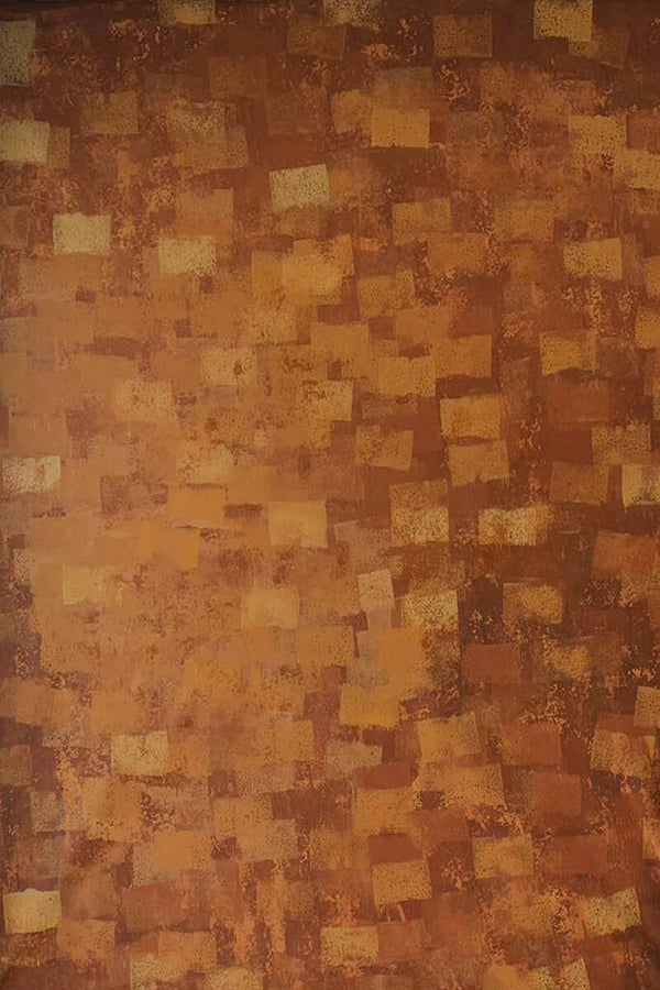 Clotstudio Abstract Dark Orange Brown Textured Hand Painted Canvas Backdrop #clot146-Mid Texture