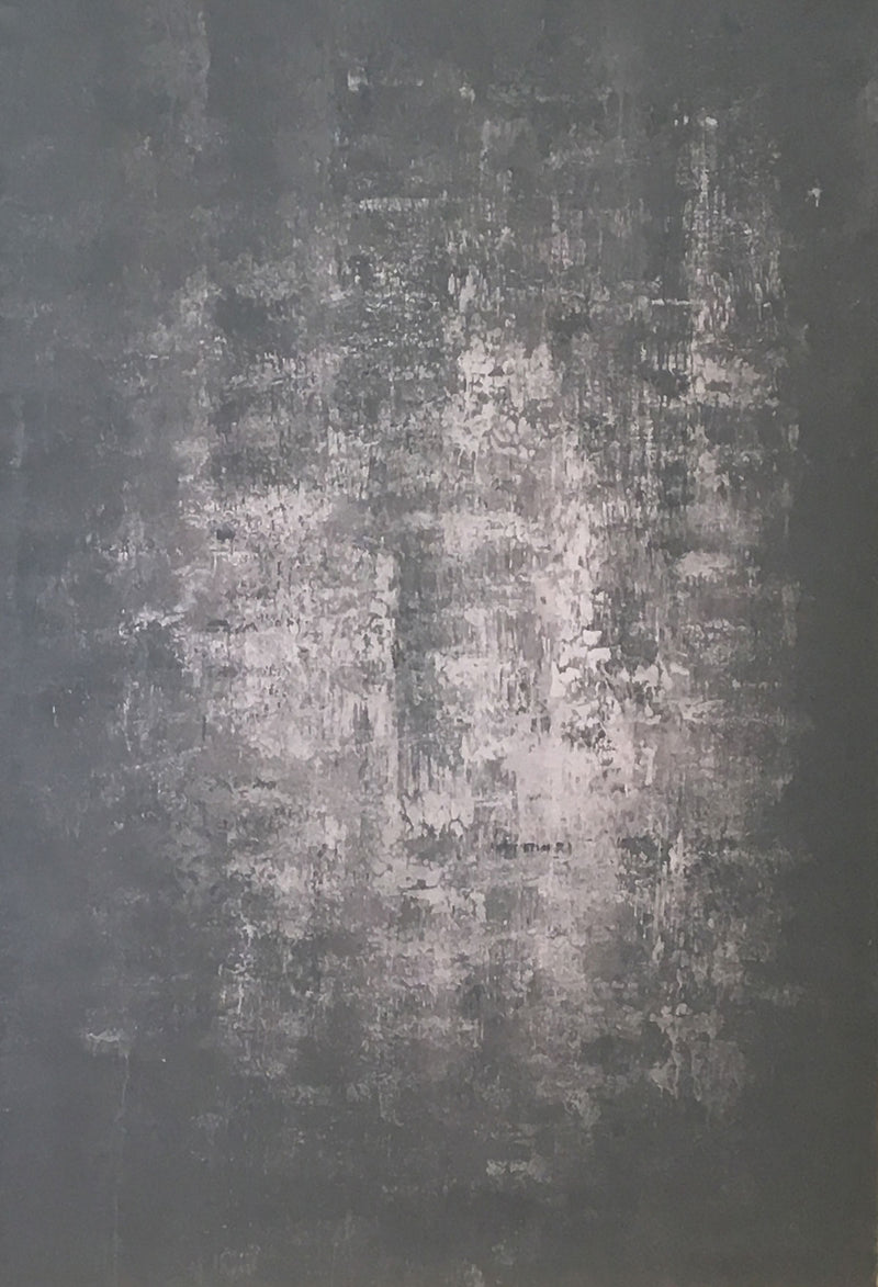 Abstract Dark Black Grey Light Pink Texture Hand Painted Canvas # clot15