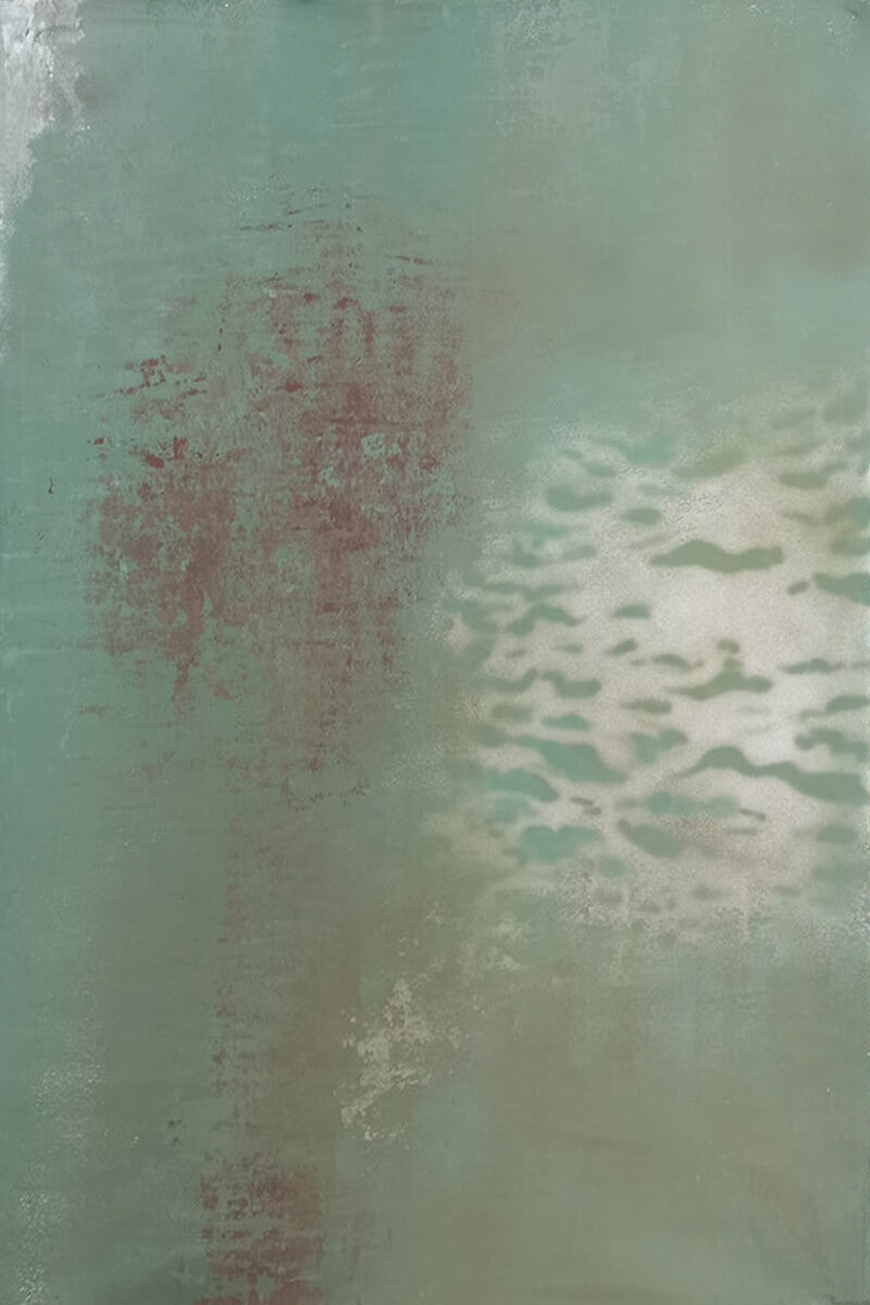 Clotstudio Abstract Green Textured Hand Painted Canvas Backdrop #clot166-Mid Texture-CLOT STUDIO