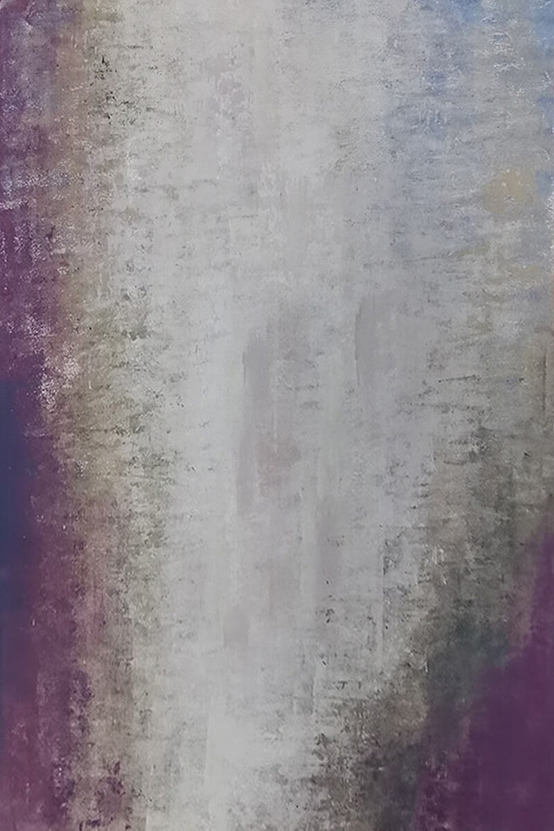 Clotstudio Abstract Grayish Blue with Purple Textured Hand Painted Canvas Backdrop #clot174-Mid Texture-CLOT STUDIO
