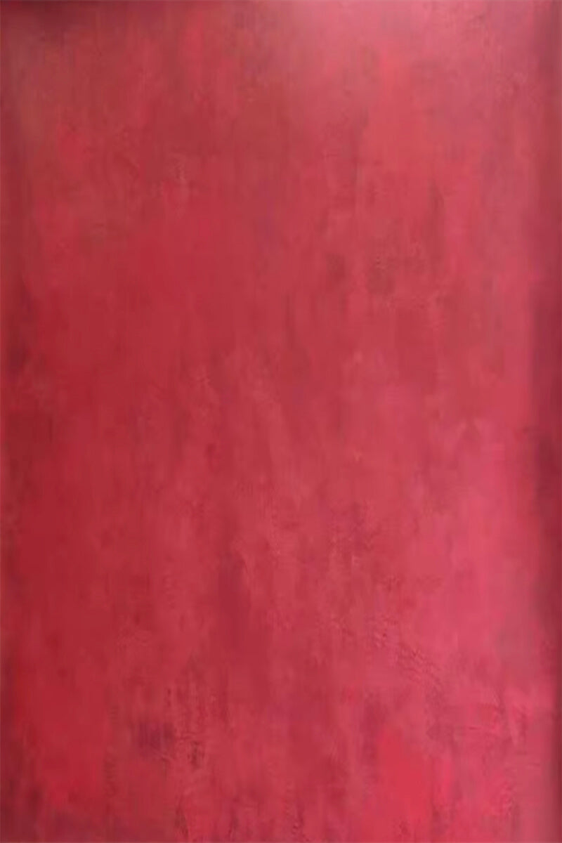 Clotstudio Abstract Red Textured Hand Painted Canvas Backdrop #clot197