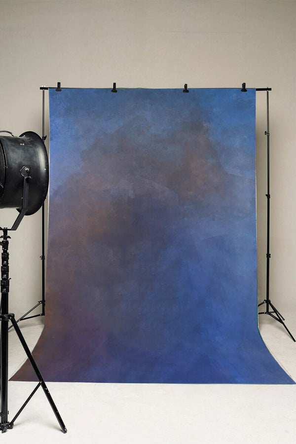 Clotstudio Abstract Purple Blue Textured Hand Painted Canvas Backdrop #clot208