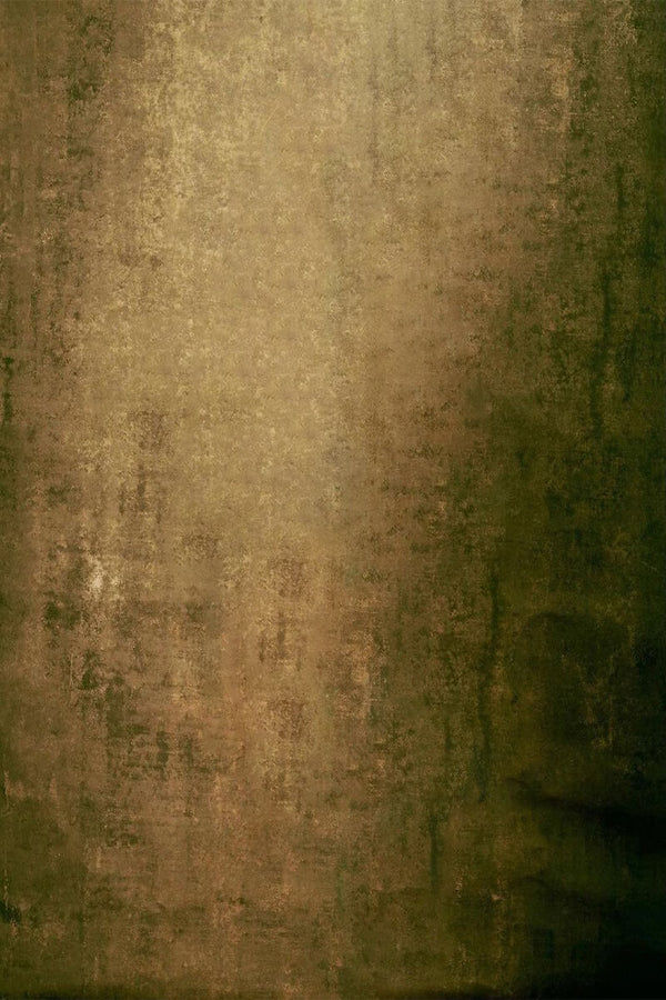 Clotstudio Abstract Ochre Green Textured Hand Painted Canvas Backdrop #clot210