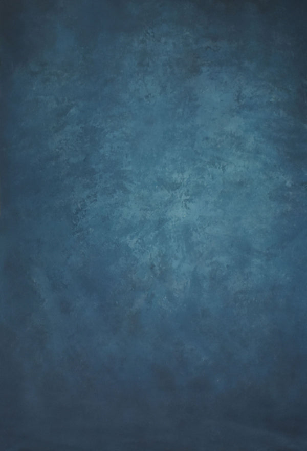 RTS-Clotstudio 5X7 ft & 7X9 ft Abstract Steel Blue Texture Hand Painted Canvas Backdrop #clot 23