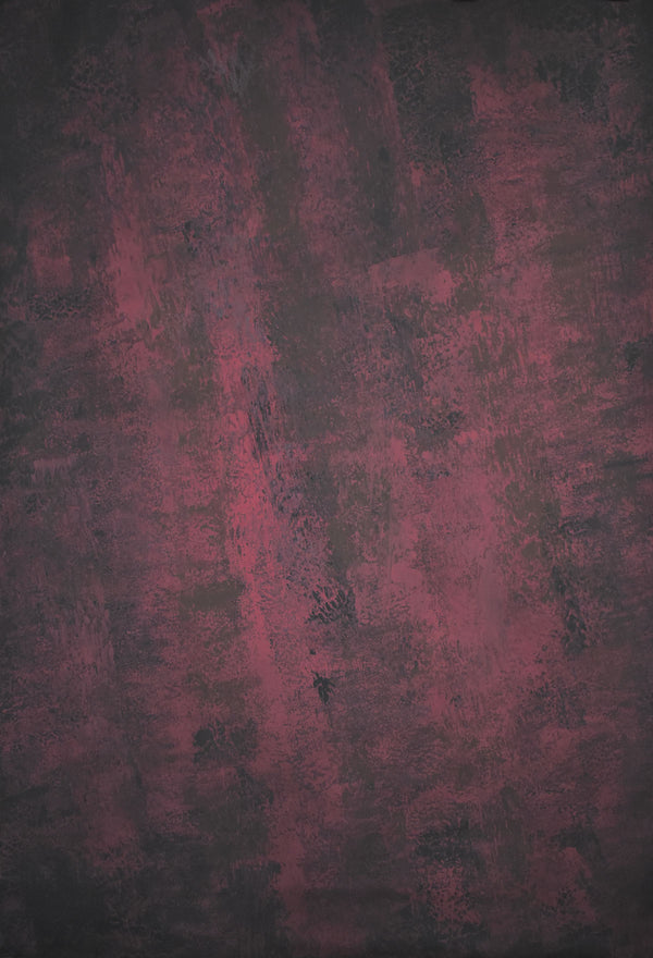 Clotstudio Abstract Dark Red Black Spray Textured Hand Painted Canvas Backdrop #clot 3-Strong Textured-CLOT STUDIO-custom hand painted canvas studio photo backdrops handmade photography backgrounds