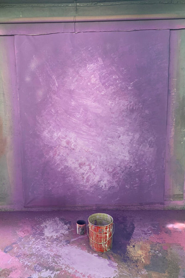 Clotstudio Abstract Purple Spray Textured Hand Painted Canvas Backdrop #clot 43-Strong Textured