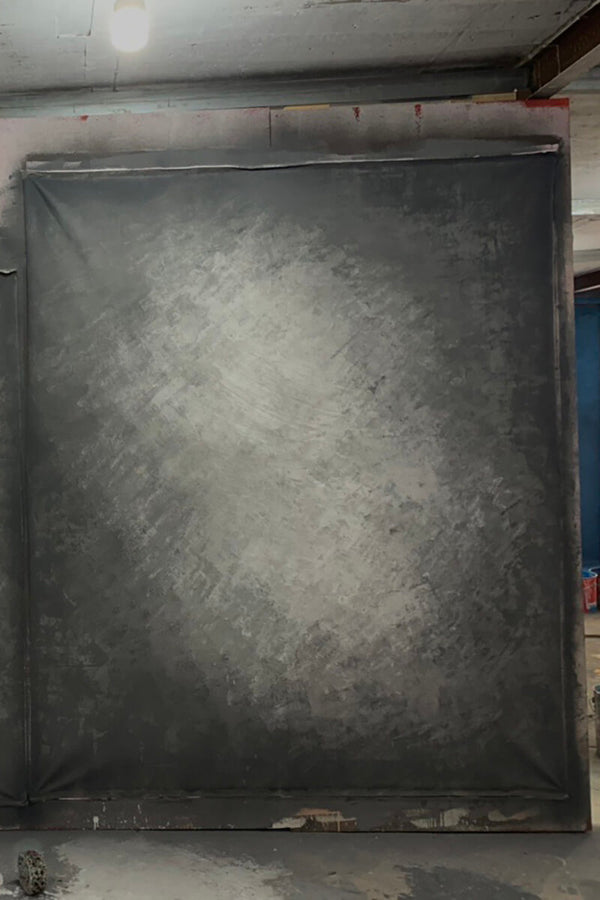 Clotstudio Abstract Black Grey Spray Textured Hand Painted Canvas Backdrop #clot 47-Mid Texture-CLOT STUDIO