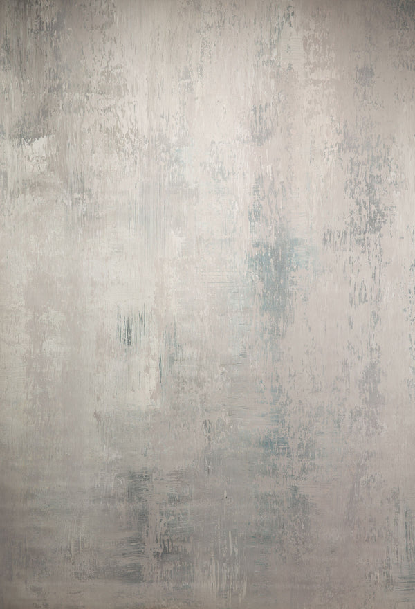 Abstract Grey with Light Beige Textured Hand Painted Canvas #clot51