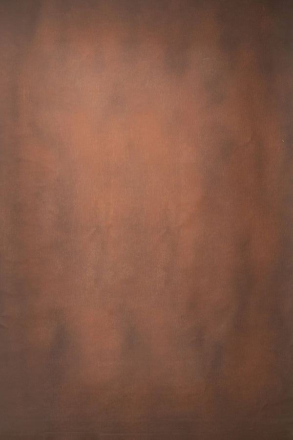 RTS-Clotstudio Abstract Dark Brown Light Orange color Textured Hand Painted Canvas Backdrop #clot 54
