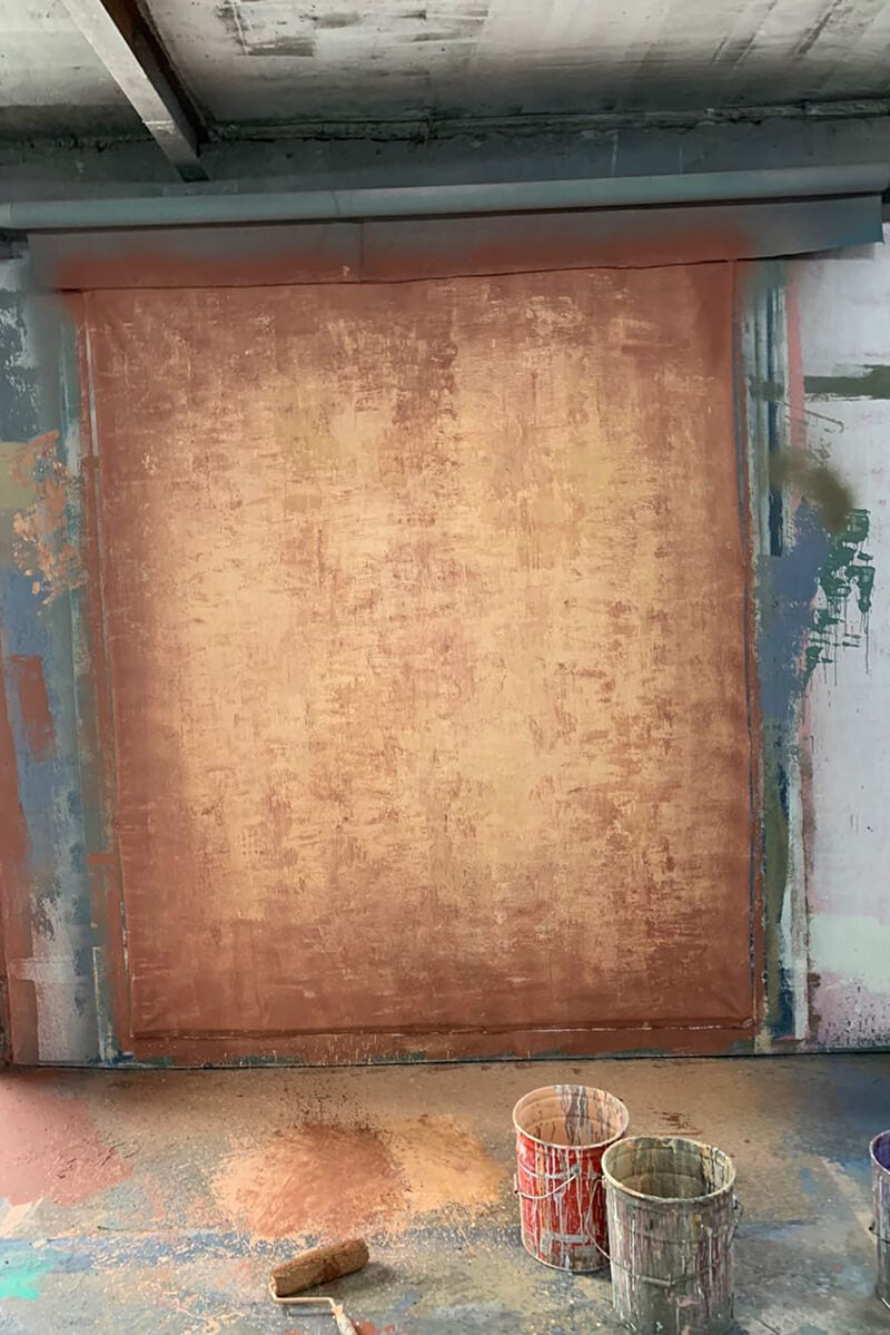 Abstract Light Brown Textured Hand Painted Canvas #clot57
