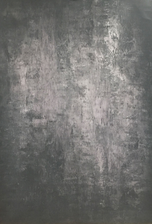 RTS-Clotstudio 8X8 ft Abstract Black Grey Spray Textured with Little Pink Hand Painted Canvas Backdrop #clot 5-Mid Texture-CLOT STUDIO-custom hand painted canvas studio photo backdrops handmade photography backgrounds