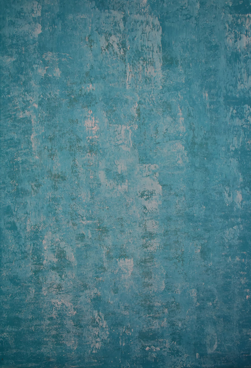 Abstract Blue Green Spray Textured Hand Painted Canvas # clot6