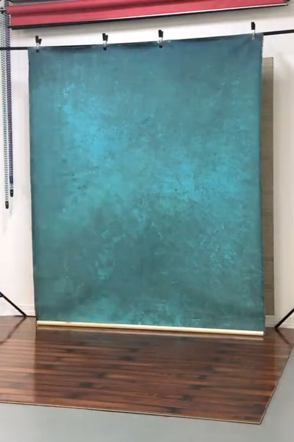 Clotstudio Abstract Tirquizy Textured Hand Painted Canvas Backdrop #clot 86-Mid Texture